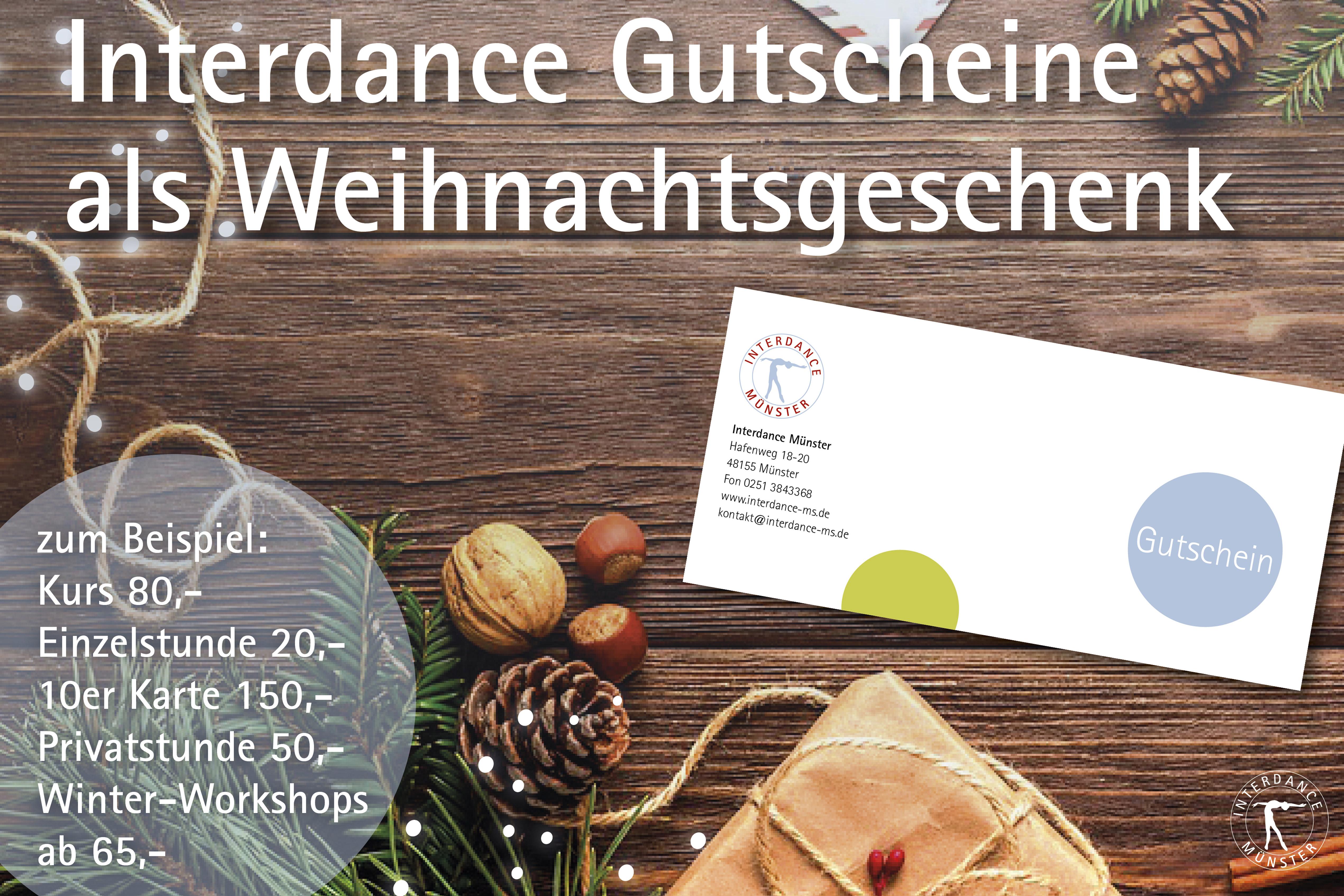 Interdance Gutschein als Weihnachtsgeschenk
