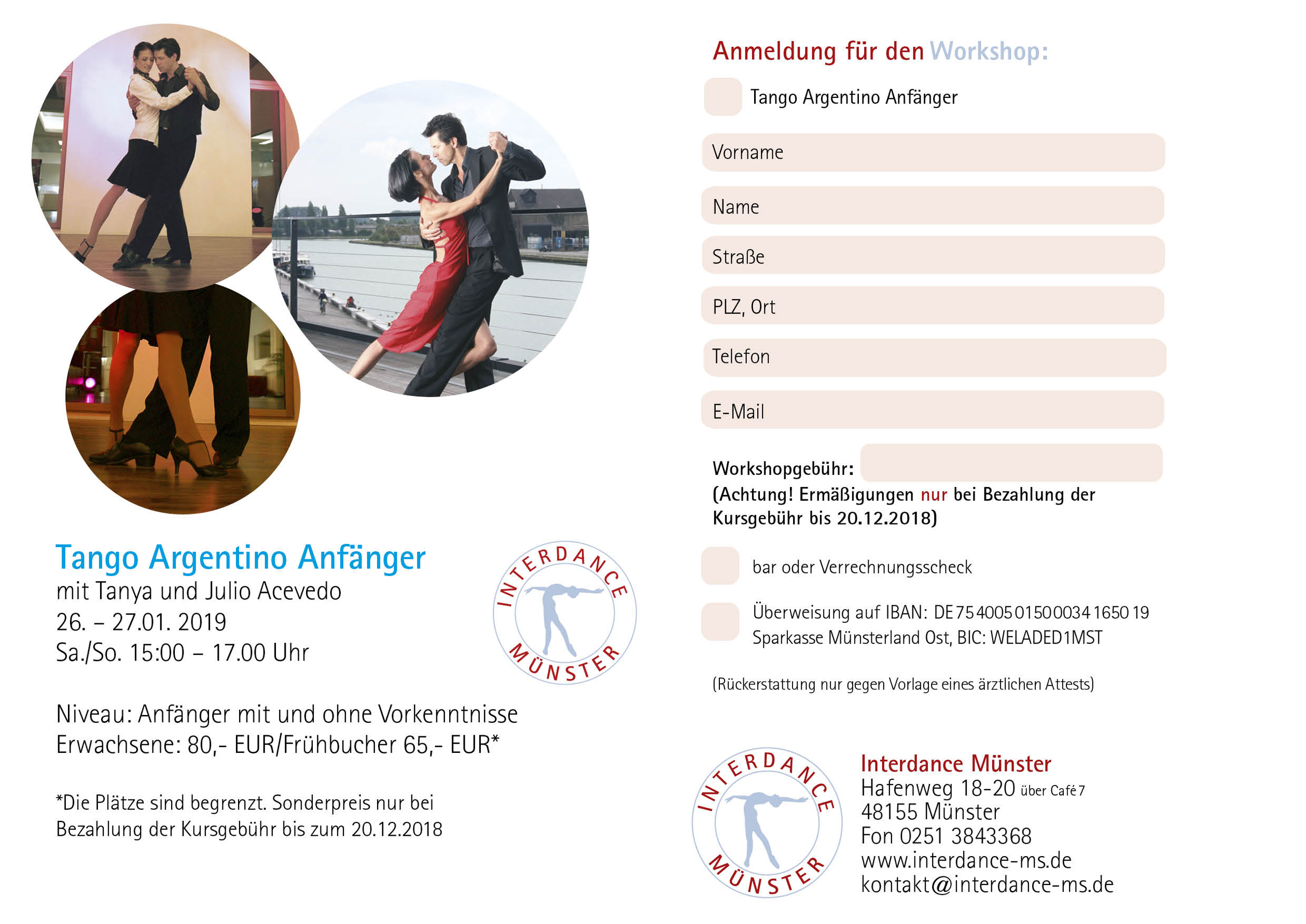 Interdance Muenster Workshops 12 2018 Tango Argentino