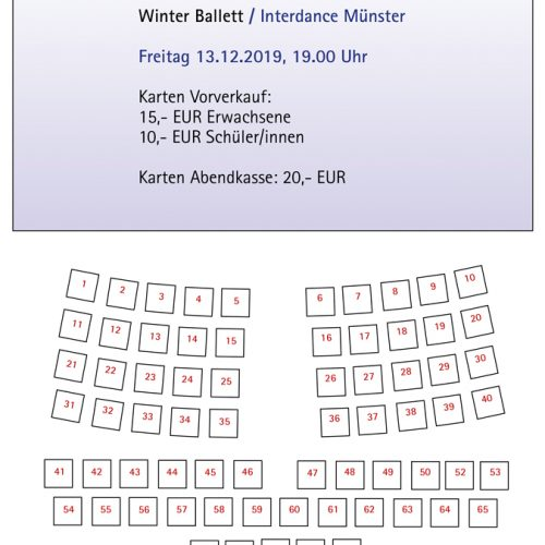 Stuhlplan Winter Ballett 13.12.2019